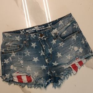 Mossimo High Rise Patriotic Shorts size 4/27